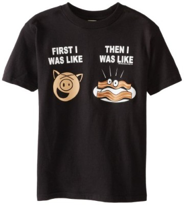 Hybrid-Big-Boys-Like-Bacon-T-Shirt-Black-Small-0