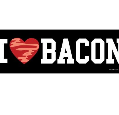 I-Heart-Love-Bacon-Magnetic-Prank-Bumper-Sticker-0