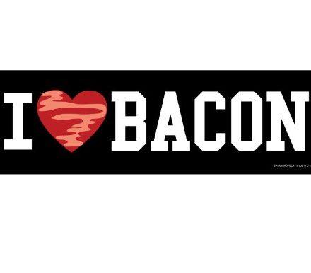 I-Heart-Love-Bacon-Magnetic-Prank-Bumper-Sticker-0