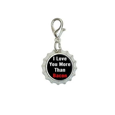 I-Love-You-More-Than-Bacon-Bracelet-Pendant-Zipper-Pull-Bottlecap-Charm-with-Lobster-Clasp-0