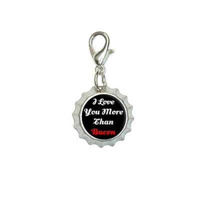 I-Love-You-More-Than-Bacon-Script-Bracelet-Pendant-Zipper-Pull-Bottlecap-Charm-with-Lobster-Clasp-0