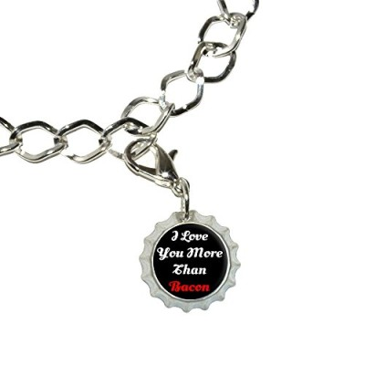 I-Love-You-More-Than-Bacon-Script-Silver-Plated-Bracelet-with-Bottlecap-Charm-0