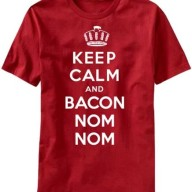 Keep-Calm-and-Bacon-Nom-Nom-Mens-T-shirt-Large-0