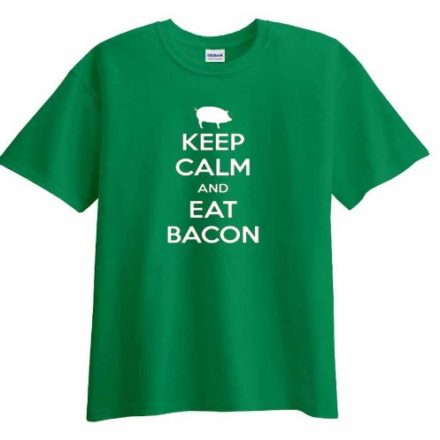 Keep-Calm-and-Eat-Bacon-pig-Funny-T-Shirt-Hilarious-Tee-0