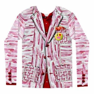 Long-Sleeve-Shirt-Bacon-Suit-Costume-Tee-0-0