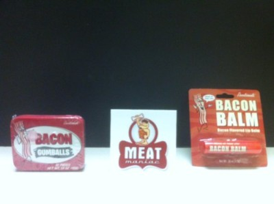 MEAT-MANIAC-Novelty-Bacon-Lovers-Combo-Gift-Pack-with-Sticker-Bacon-Lip-Balm-Bacon-Gumballs-0
