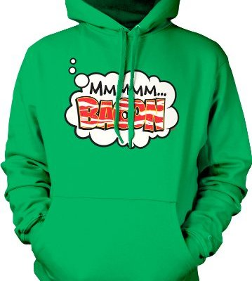 MMMMM-Bacon-Hooded-Sweatshirt-Hilarious-Funny-Bacon-Design-Hoodie-Kelly-Green-Large-0