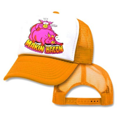 Makin-Bacon-Mesh-Trucker-Hat-Cap-0