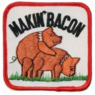 Makin-Bacon-Pig-Hog-Embroidered-Iron-on-Biker-Patch-0