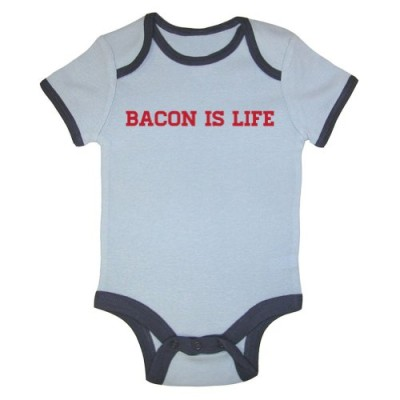 Mashed-Clothing-Bacon-is-Life-Ringer-Baby-Bodysuit-Blue-Ringer-6-12-Months-0