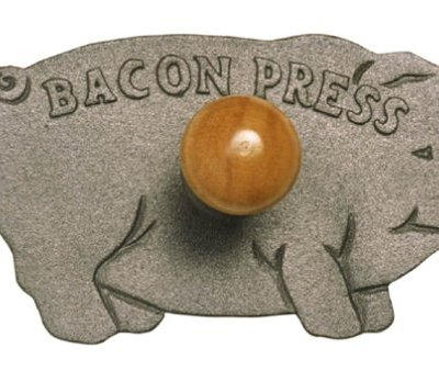 Norpro-Cast-Iron-Pig-Bacon-Grill-Press-0