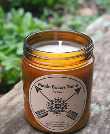 PORTLAND-Maple-Bacon-Donut-9oz-Soy-Wax-Candles-0