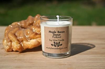PORTLAND-Maple-Bacon-Donut-Set-of-2-3oz-Soy-Wax-Candle-Votives-0