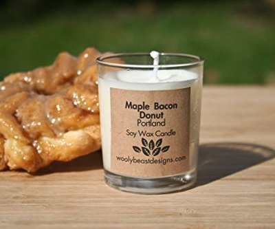 PORTLAND-Maple-Bacon-Donut-Set-of-2-3oz-Soy-Wax-Candle-Votives-0