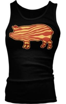 Pig-Shaped-Bacon-Ladies-Junior-Fit-Tank-Top-Black-Medium-0
