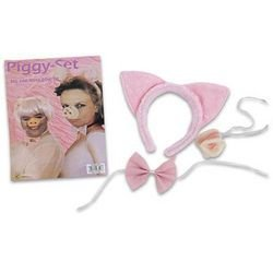 Piggy-Costume-Set-Includes-Pig-Ear-Nose-Bow-Tie-0