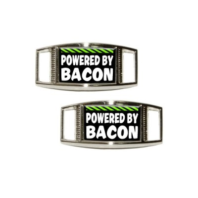 Powered-By-Bacon-Shoe-Sneaker-Shoelace-Charm-Rectangular-Decoration-Set-of-2-0