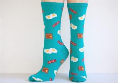 Socksmith-Womens-Teal-American-Breakfast-Crew-Socks-0
