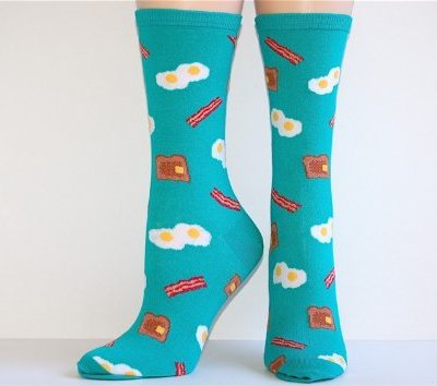 Socksmith-Womens-Teal-American-Breakfast-Crew-Socks-0