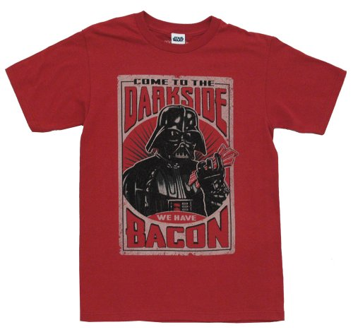 Star-Wars-Darth-Vader-Dark-Side-Bacon-Vintage-Style-Mighty-Fine-Adult-T-Shirt-Tee-Select-Shirt-Size-X-Large-0