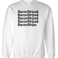 THE-GOOZLER-BACON-STRIPS-Mens-Fleece-Sweatshirt-XL-White-0