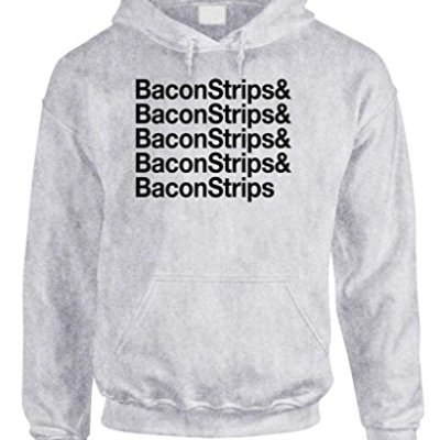 THE-GOOZLER-BACON-STRIPS-Mens-Pullover-Hoodie-XL-Ash-0