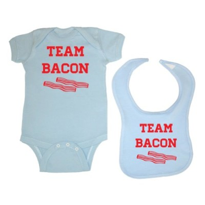 Tasty-Threads-2-Pack-Team-Bacon-Baby-Bodysuit-Bib-Lt-Blue-6-Months-0