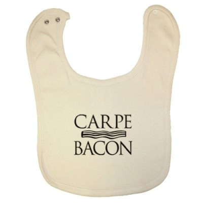 Tasty-Threads-Carpe-Bacon-Black-Print-Organic-Baby-Bib-0