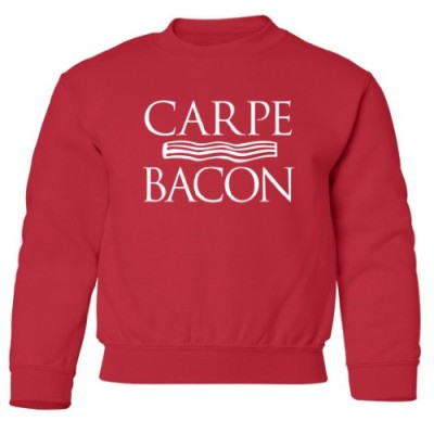 Tasty-Threads-Carpe-Bacon-Kids-Sweatshirt-Red-Medium-0