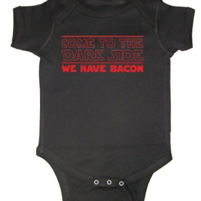 Tasty-Threads-Come-To-The-Dark-Side-We-Have-Bacon-Red-Print-Baby-Bodysuit-Black-Newborn-0