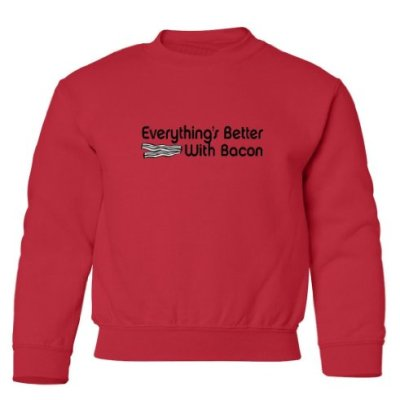 Tasty-Threads-Everythings-Better-With-Bacon-Black-Print-Kids-Sweatshirt-Red-Large-0