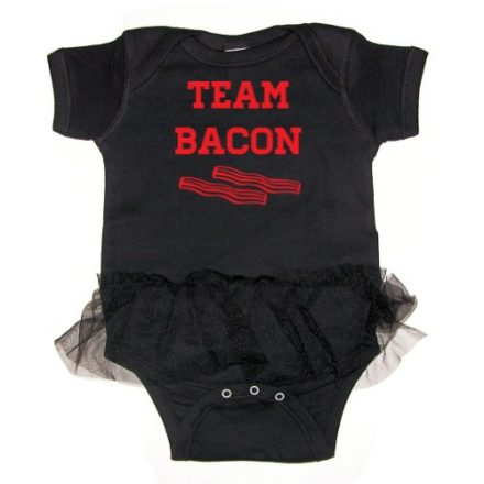 Tasty-Threads-Team-Bacon-Baby-Tutu-Bodysuit-Black-12-Months-0