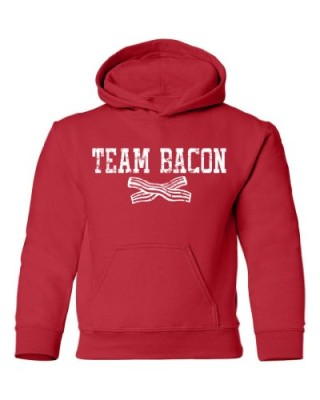 Tasty-Threads-Team-Bacon-Kids-Hooded-Sweatshirt-Red-Large-0