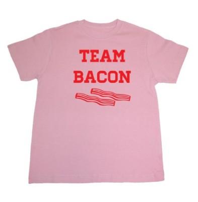 Tasty-Threads-Team-Bacon-Kids-T-Shirt-Pink-Kids-Large-0