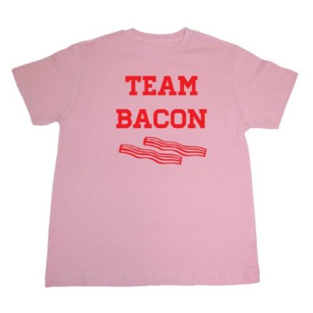 Tasty-Threads-Team-Bacon-Kids-T-Shirt-Pink-Kids-Large-0