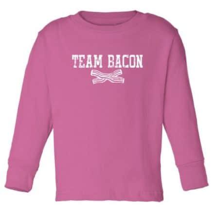 Tasty-Threads-Team-Bacon-Long-Sleeve-Toddler-T-Shirt-Raspberry-56T-0