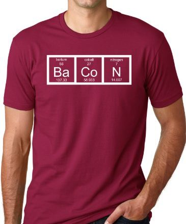 The-Chemistry-Of-Bacon-T-Shirt-Funny-Periodic-Table-Tee-L-0