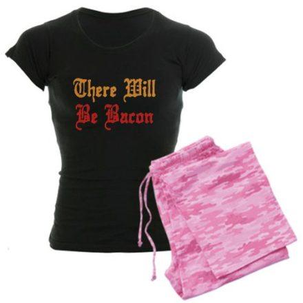 There-Will-Be-Bacon-Womens-Dark-Pajamas-Womens-Dark-Pajamas-XL-With-Pink-Camo-Pant-0