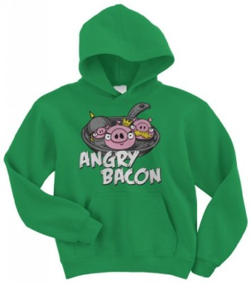 Threadrock-Angry-Bacon-Youth-Hoodie-Sweatshirt-L-Kelly-Green-0