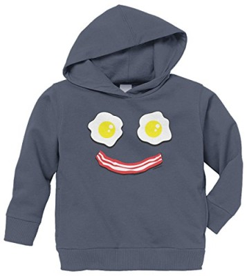 Threadrock-Bacon-and-Eggs-Smiley-Face-Toddler-Hoodie-Sweatshirt-4T-Navy-0