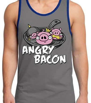 TshirtsXL-Mens-Angry-Bacon-Graphic-Tank-Top-Medium-Grey-0