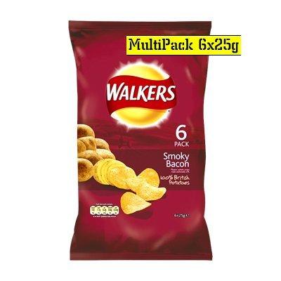 Walkers-Smokey-Bacon-Crisps-6-Pack-150g-0