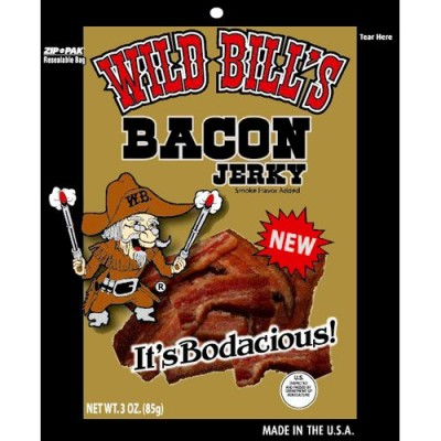 Wild-Bills-3oz-Smoked-Bacon-Jerky-Packs-4-re-sealable-3oz-bacon-jerky-packs-per-bag-0