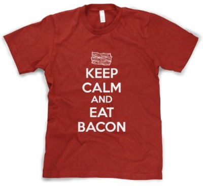 Youth-Keep-Calm-And-Eat-Bacon-T-Shirt-Funny-Bacon-Lover-Tee-For-Kids-M-0