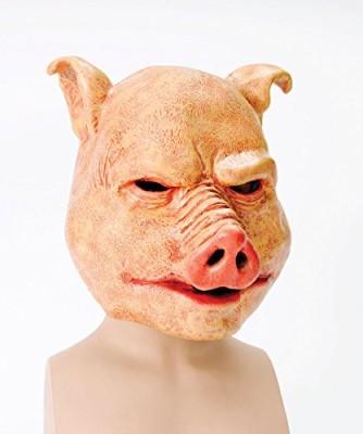 Bristol-Novelty-Orange-Horror-Pig-Latex-Masks-Mens-One-Size-0