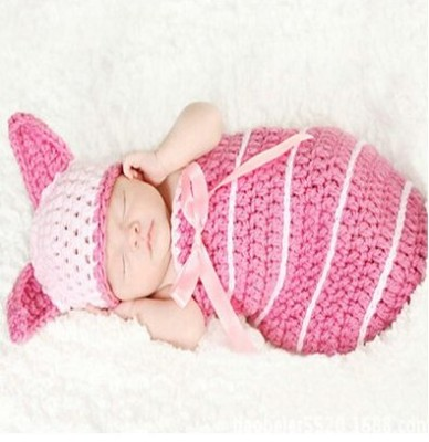 Dealzip-Inc-Fashion-Unisex-Newborn-Boy-Girl-Crochet-Knitted-Baby-Outfits-Costume-Set-Photography-Photo-Pro-Pink-Pig-0