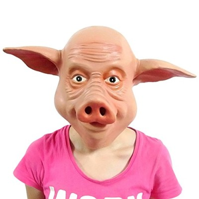Deluxe-Latex-Animal-Pig-Mask-0