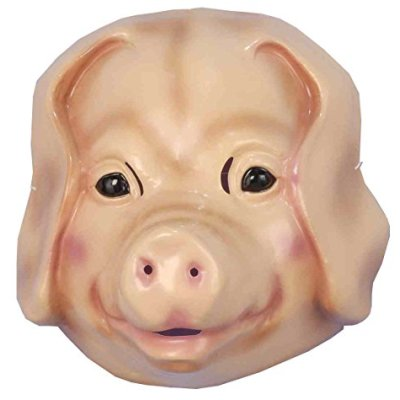 Forum-Novelties-Childs-Plastic-Animal-Mask-Pig-0