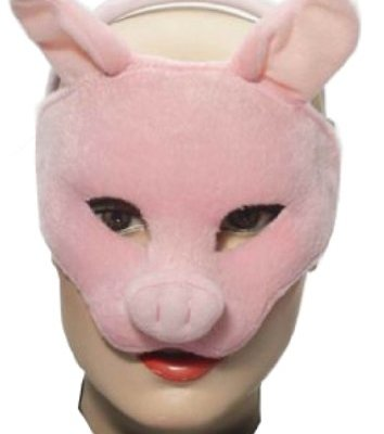 Forum-Novelties-Deluxe-Plush-Pink-Pig-Animal-Half-Mask-0