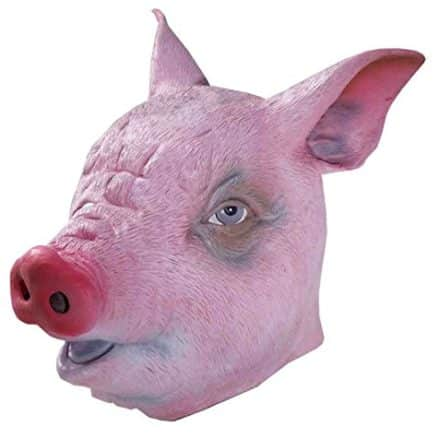 Forum-Novelties-Mens-Deluxe-Latex-Pig-Mask-Pink-One-Size-0